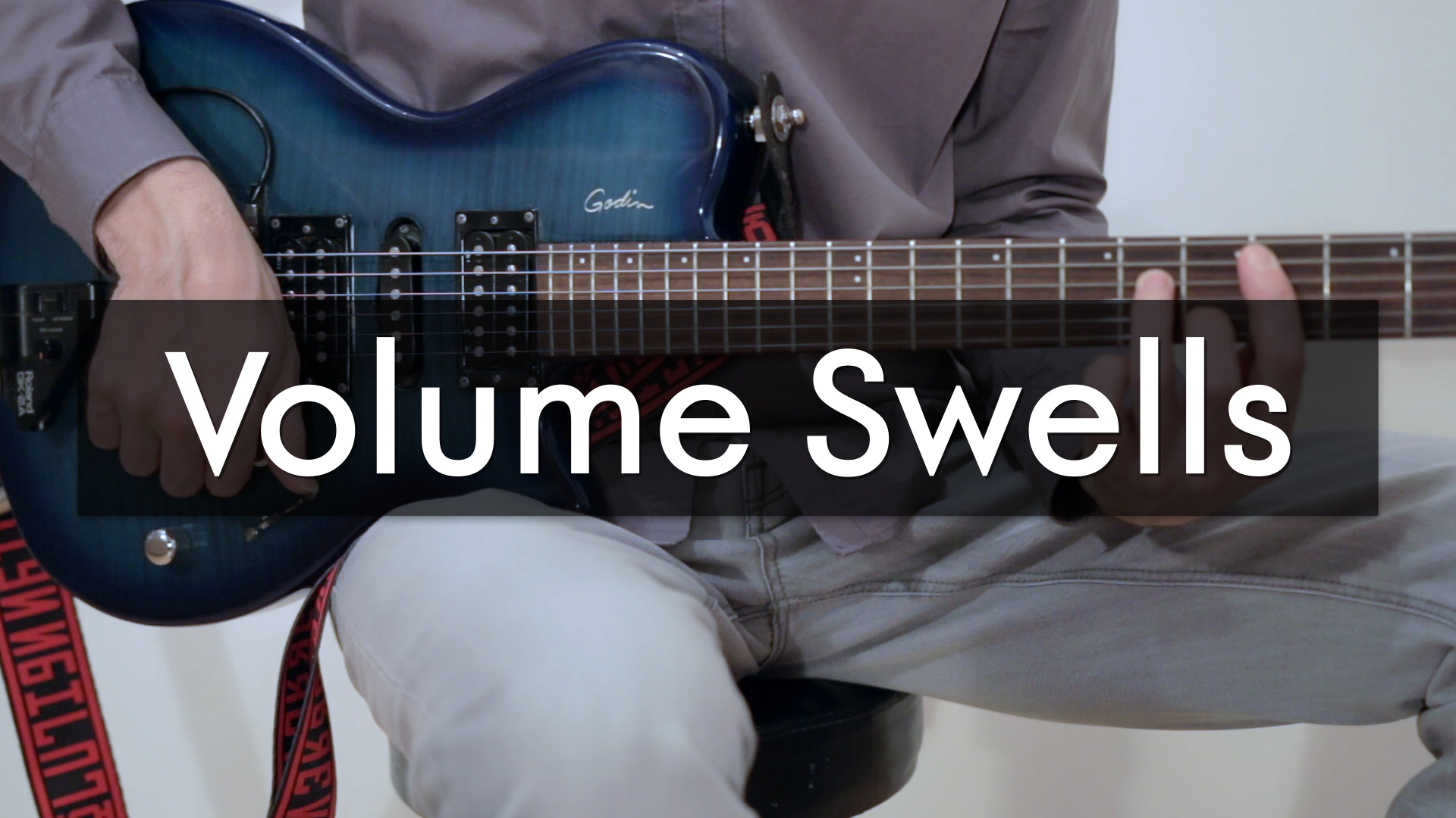 How to play Ambient guitar volume Swells